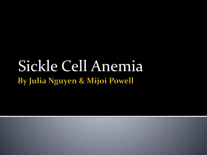 sickle cell anemia n.