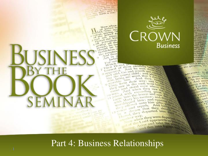 part 4 business relationships n.