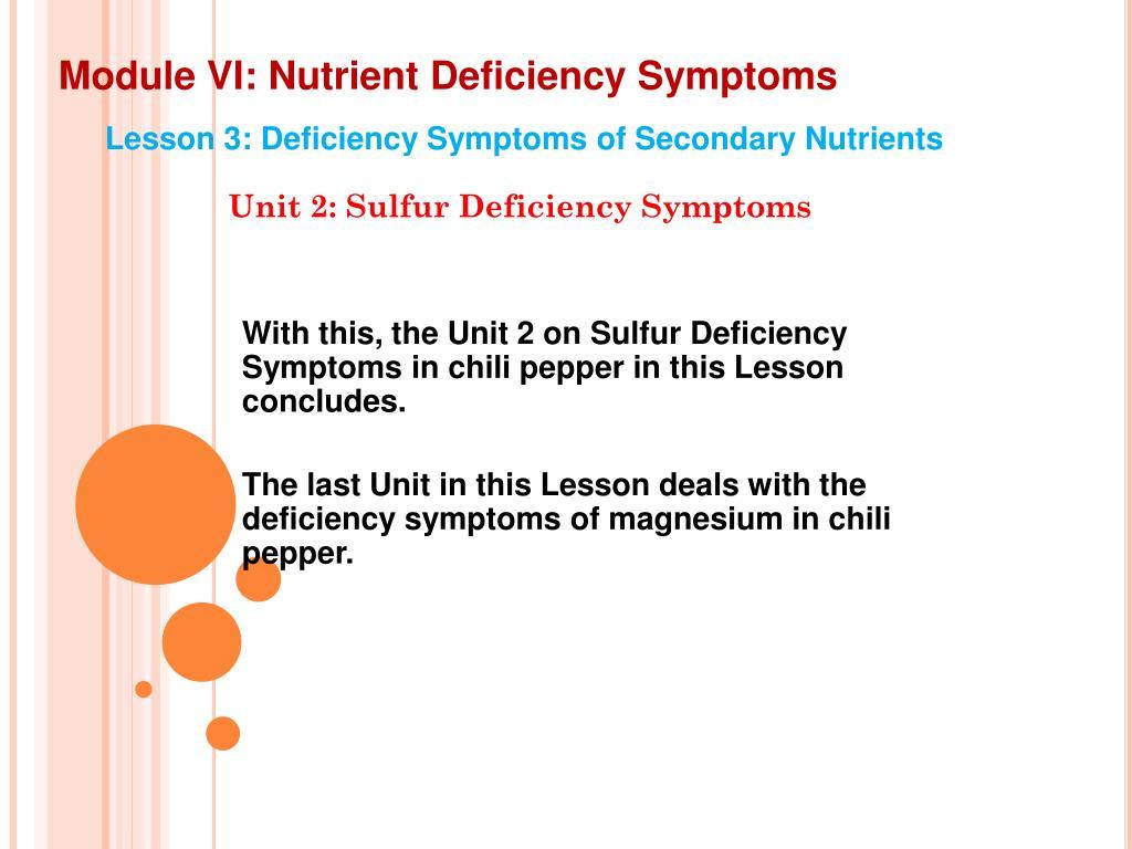 PPT - Module VI: Nutrient Deficiency Symptoms PowerPoint