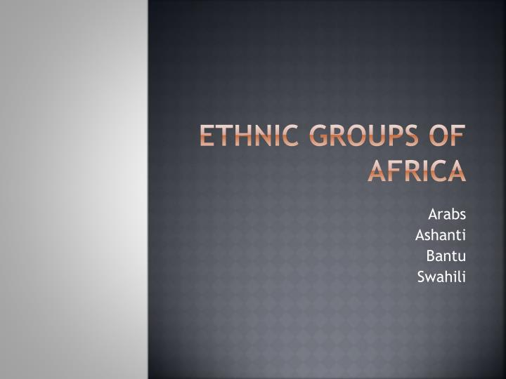 ethnic groups of africa n.