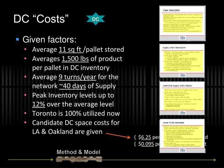 "DC ""Costs"""