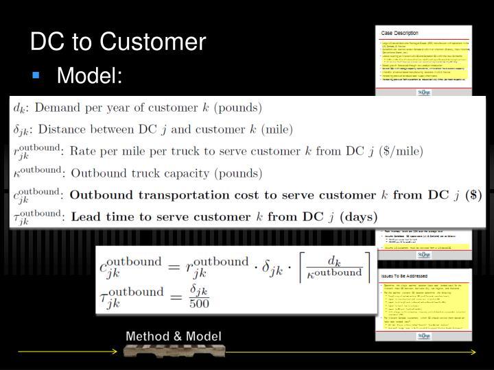 DC to Customer