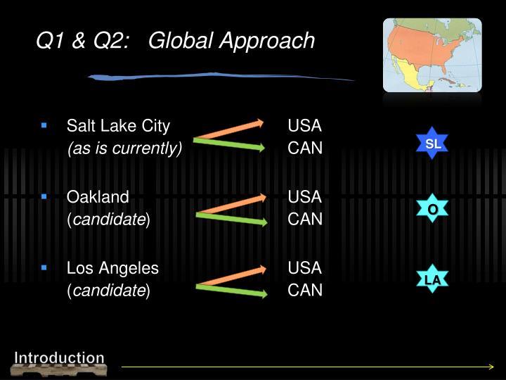 Q1 & Q2:   Global Approach