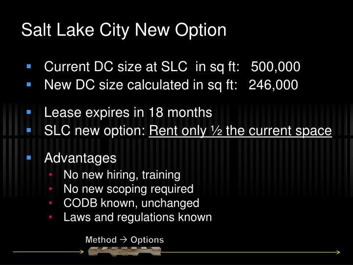 Salt Lake City New Option