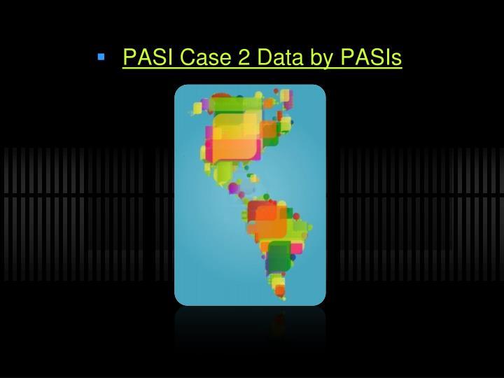 PASI Case 2 Data by PASIs