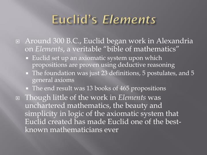 Euclid s elements