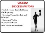 vision success factors