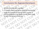 conclusions for zygosaccharomyces