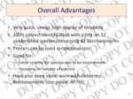 overall advantages