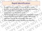 rapid identification
