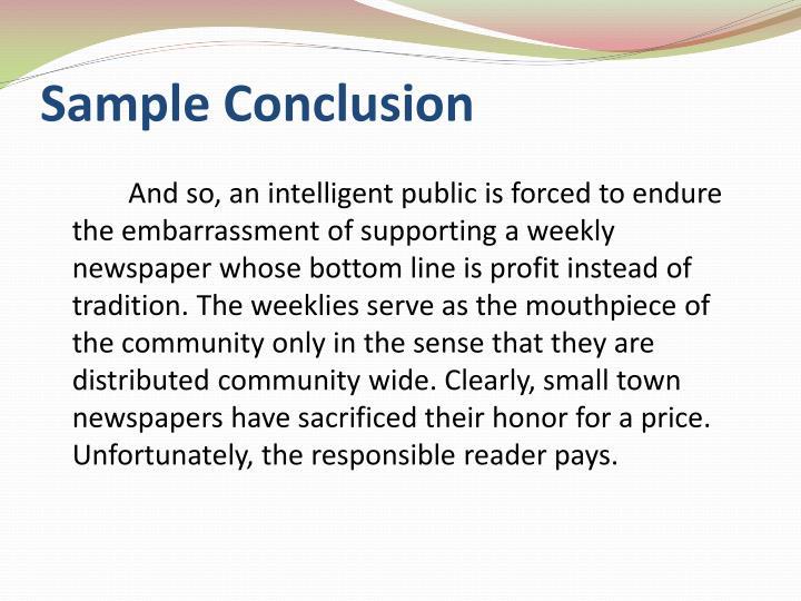 presentation conclusion sample