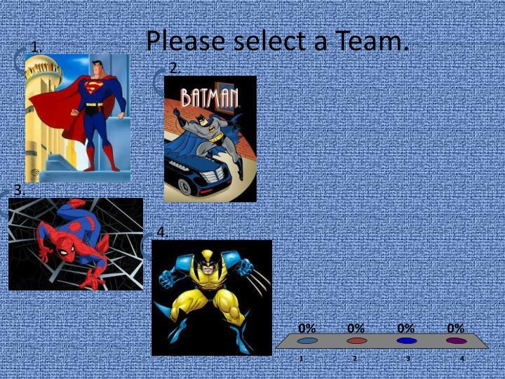 Please select a team