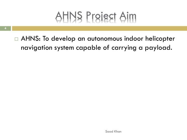 AHNS Project Aim