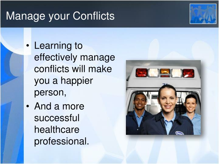 Manage your Conflicts