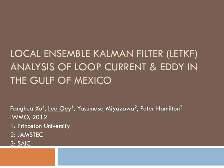 local ensemble kalman filter letkf analysis of loop current eddy in the gulf of mexico n.