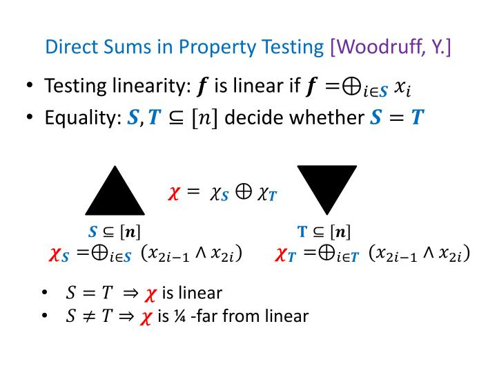 Direct Sums in Property Testing