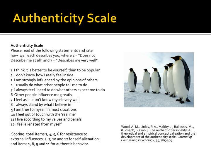 Authenticity Scale