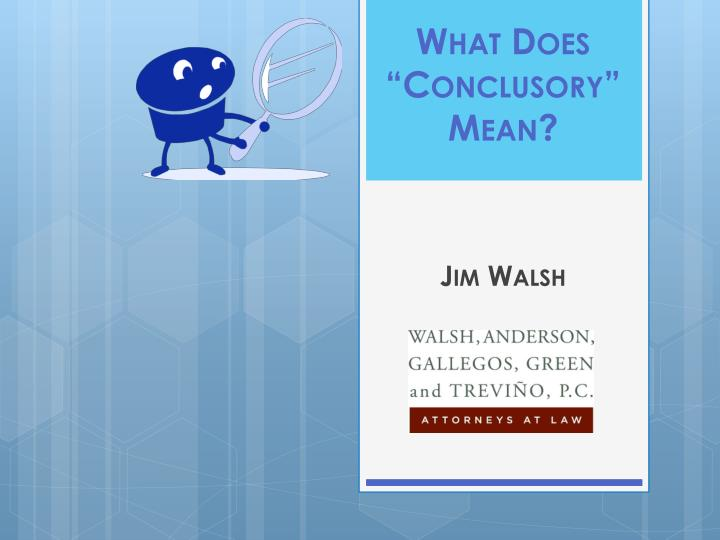 what does conclusory mean n.