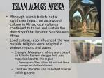 islam across africa