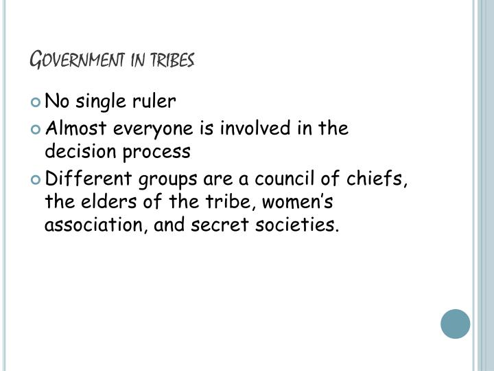 Government in tribes