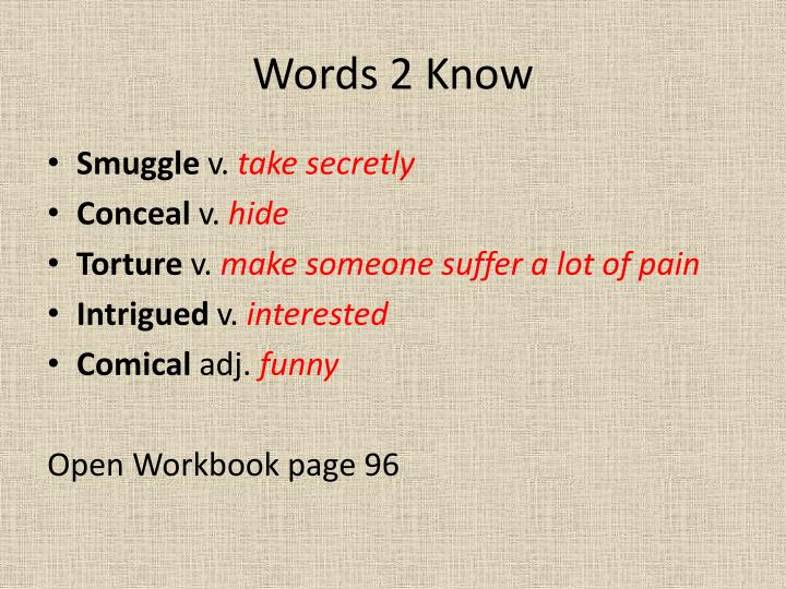 Words 2 Know