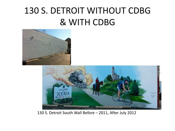 130 S. DETROIT WITHOUT CDBG