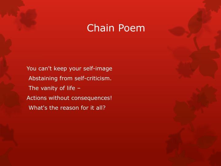 Chain poem