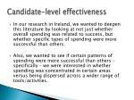 candidate level effectiveness
