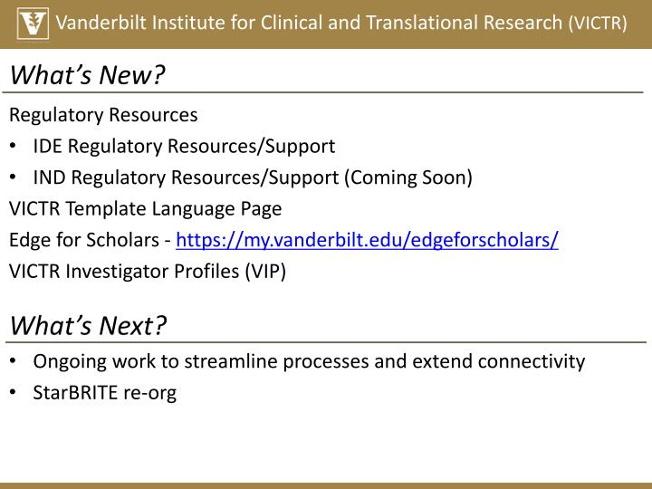 Vanderbilt Institute for Clinical and Translational Research