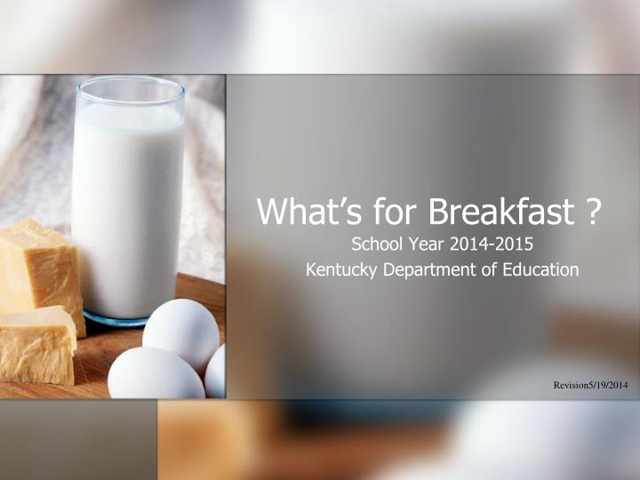 what s for breakfast n.
