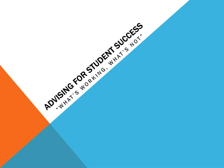 advising for student success n.
