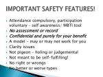 important safety features