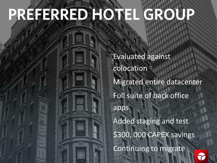Evaluated against colocation