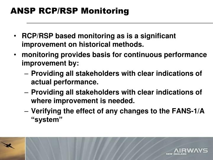 ANSP RCP/RSP Monitoring