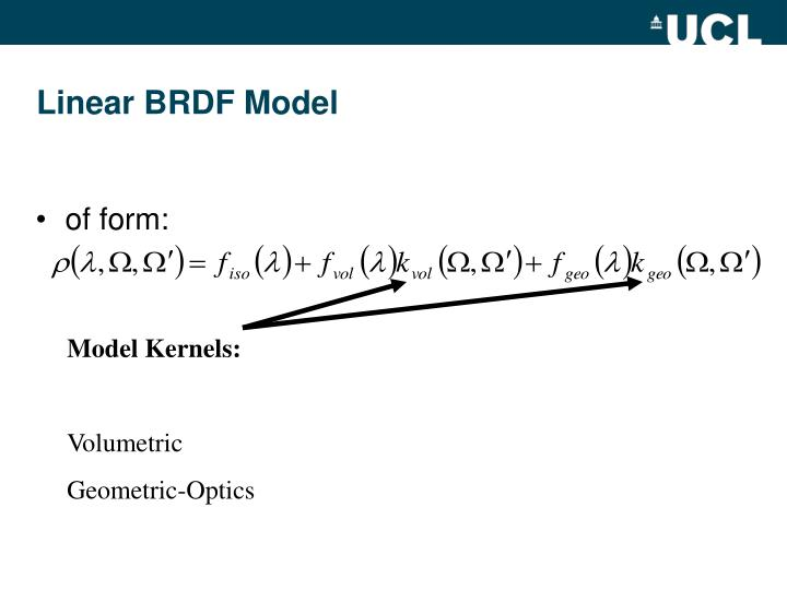 Model Kernels:
