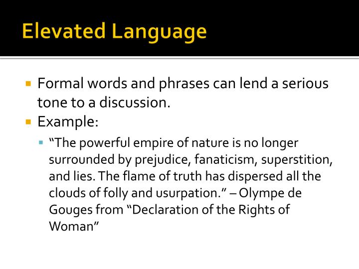 Elevated Language