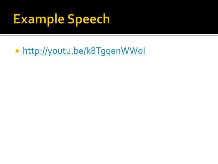 Example Speech