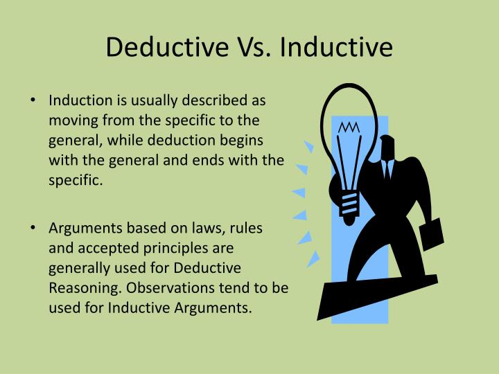 Deductive Vs. Inductive