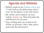 agenda and website