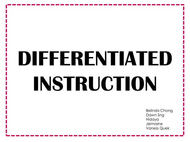 Ppt Differentiated Instruction Powerpoint Presentation Id2443819
