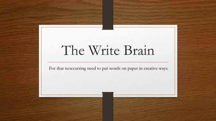 the write brain n.