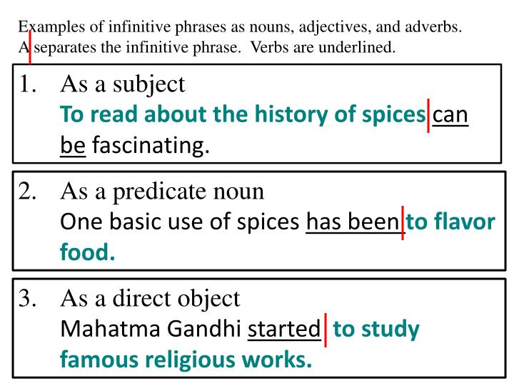 Ppt Infinitives And Infinitive Phrases Powerpoint