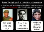 power groupings after the cultural revolution