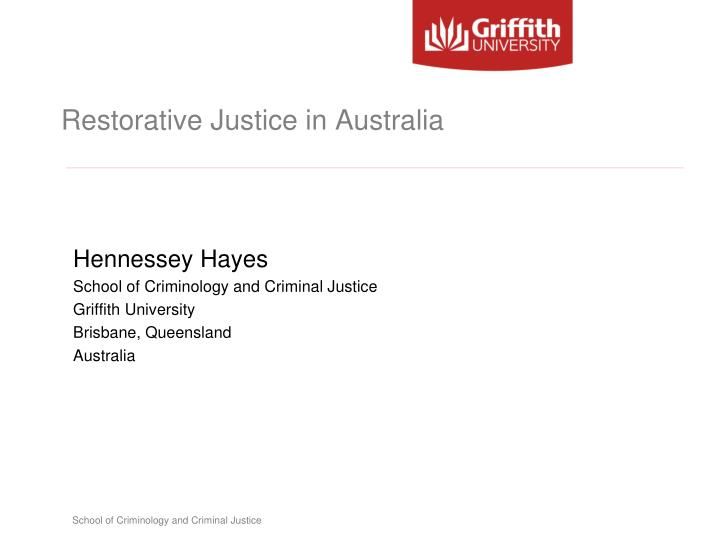 restorative justice and the australian implementation of conferencing as a means of reducing juvenil This paper is concerned with the nature and complexities of restorative justice implementation of conferencing australian juvenile justice conferencing.