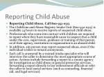 reporting child abuse