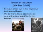 sermon on the mount matthew 5 1 12