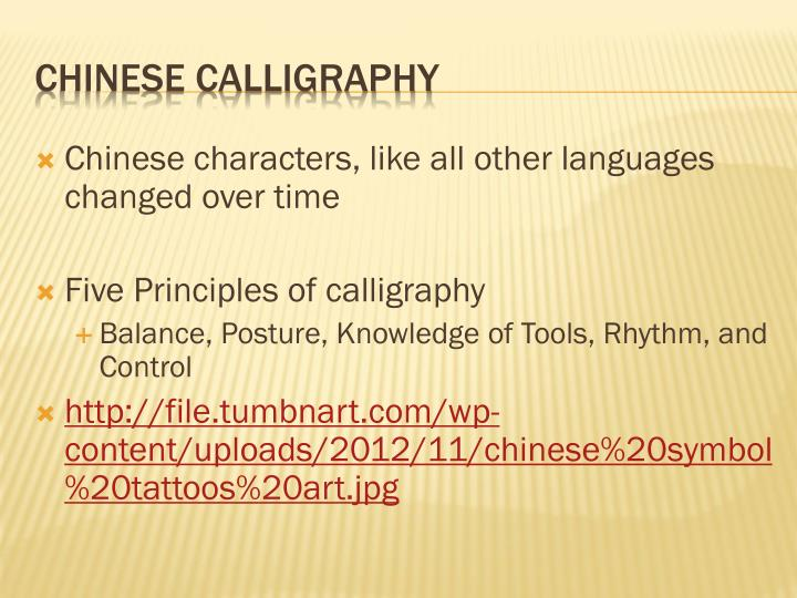 Chinese characters, like all other languages changed over time
