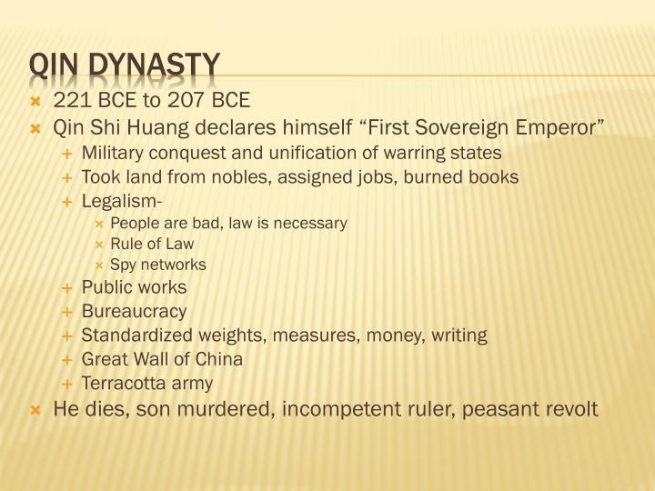 221 BCE to 207 BCE