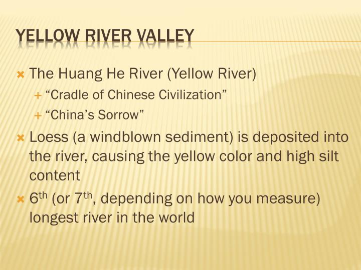 The Huang He River (Yellow River)
