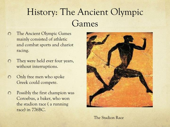 a history of the ancient olympic games